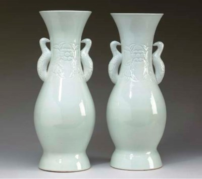 A PAIR OF CHINESE BLANC-DE-CHI