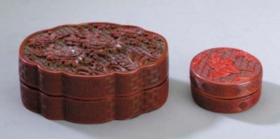 A CHINESE RED LACQUER CIRCULAR