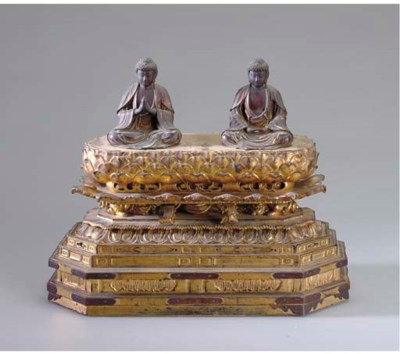 A JAPANESE GILTWOOD BUDDHIST S