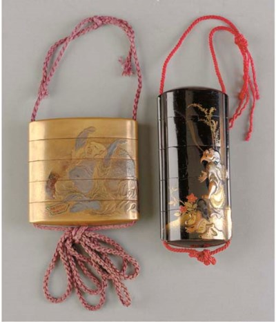 TWO JAPANESE FOUR-CASE LACQUER