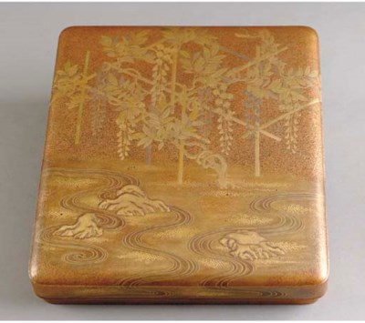 A JAPANESE GOLD LACQUER COVERE