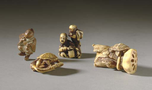 FOUR JAPANESE NETSUKE**,