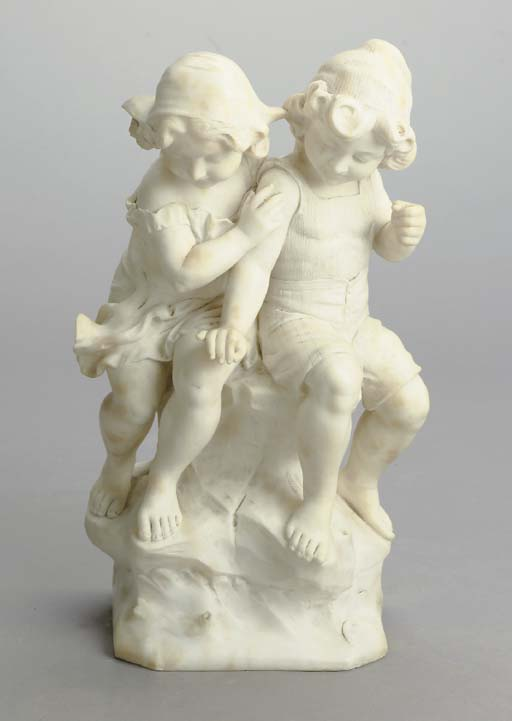 AN ITALIAN ALABASTER GROUP OF
