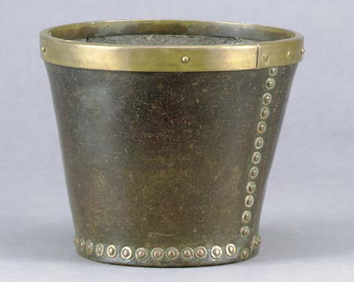 A LEATHER FIRE BUCKET,