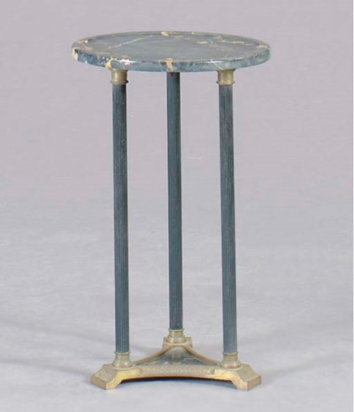 AN EMPIRE STYLE MARBLE TOPPED