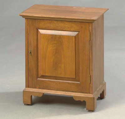 A FRUITWOOD SPICE CUPBOARD,