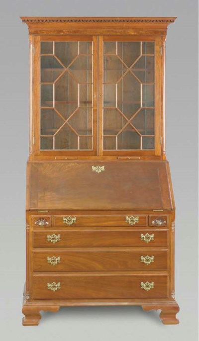 A CHIPPENDALE STYLE MAHOGANY B