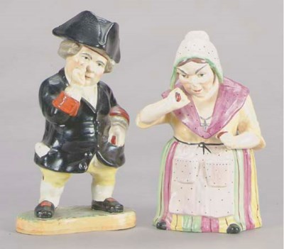 A PAIR OF STAFFORDHSHIRE FIGUR