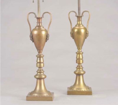 A PAIR OF LOUIS PHILIPPE METAL