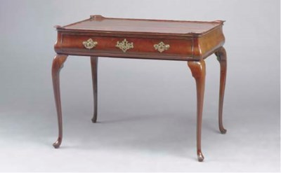 A QUEEN ANNE STYLE MAHOGANY TE
