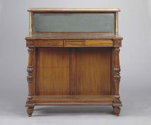 A WILLIAM IV ROSEWOOD MIRRORED