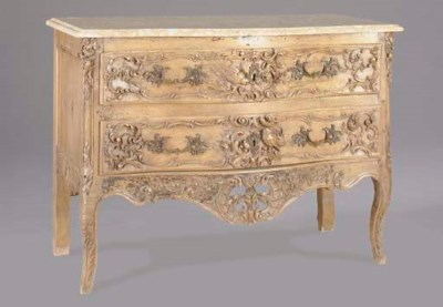 A LOUIS XV STYLE CARVED BEECHW