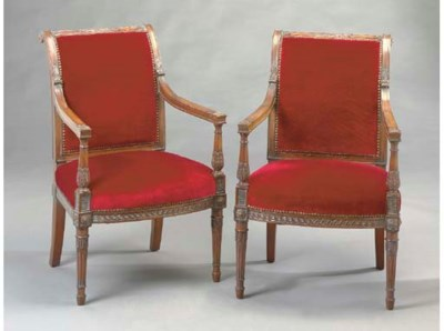 A PAIR OF DIRECTOIRE STYLE MAH
