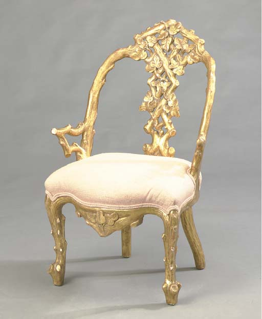 A VICTORIAN STYLE GILTWOOD GRO