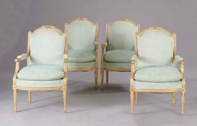 A SET OF FOUR LOUIS XVI STYLE