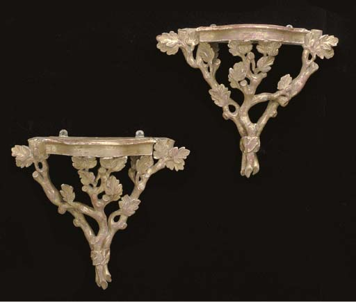 A PAIR OF GEORGE III STYLE GIL