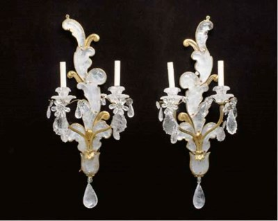 A PAIR OF BAROQUE STYLE ROCK C