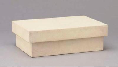 A SHAGREEN VENEERED TABLE BOX,