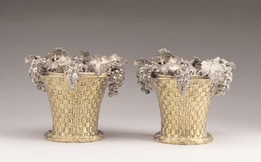 A PAIR OF GILT BRONZE AND SILV