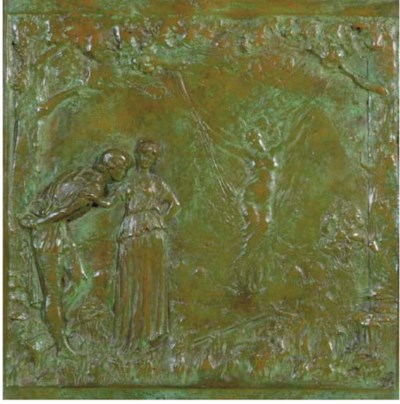 A PAIR OF BRONZE RELIEF PLAQUE