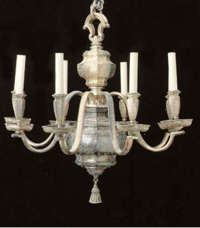 A BAROQUE STYLE SILVERED EIGHT