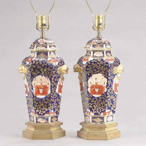 A PAIR OF ENGLISH IRONSTONE IM