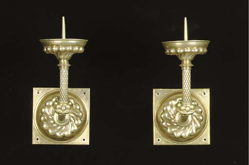 A PAIR OF LARGE BRASS FLEMISH