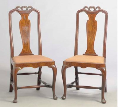 A PAIR OF GEORGE I STYLE WALNU