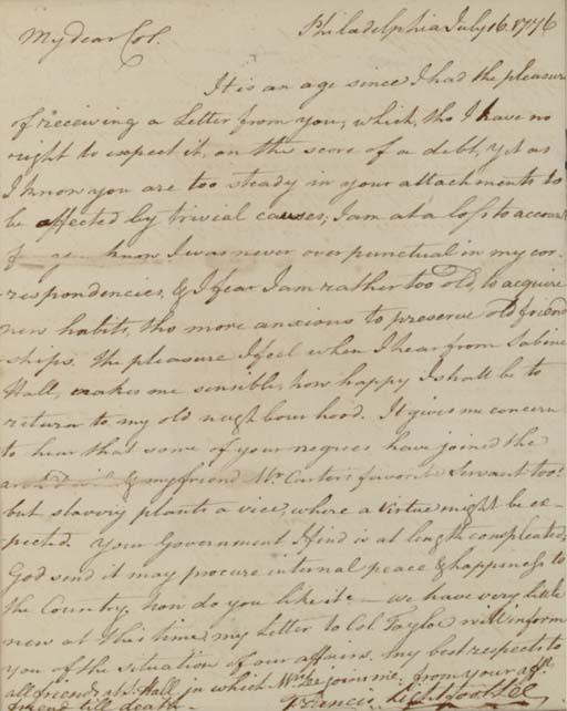 LEE, Francis Lightfoot (1734-1