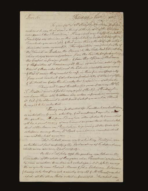 MCKEAN, Thomas, 1734-1817, Sig