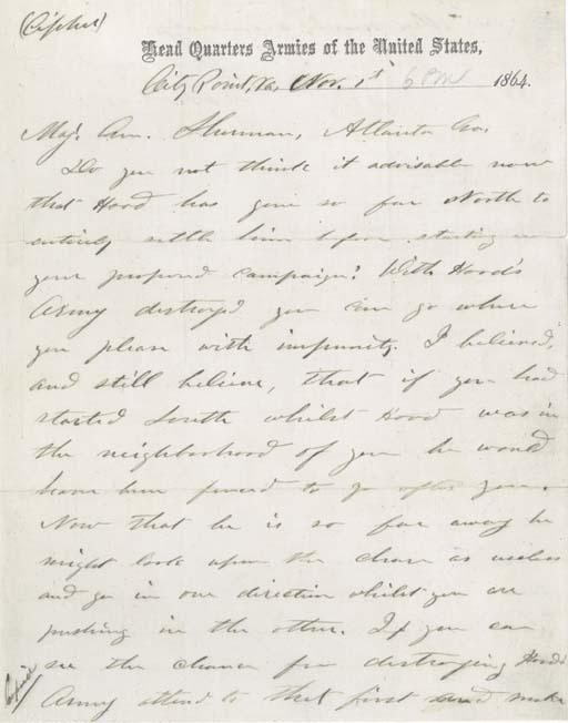GRANT, Ulysses S. Autograph dr
