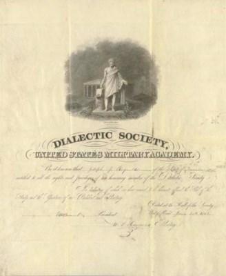 GRANT, Ulysses S. Engraved doc