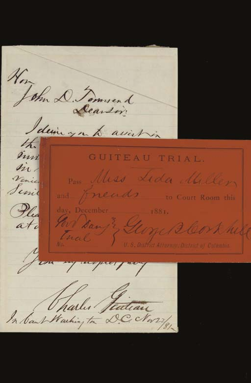 [GARFIELD, James]. GUITEAU, Ch
