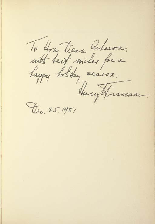 TRUMAN, Harry S. Address of th