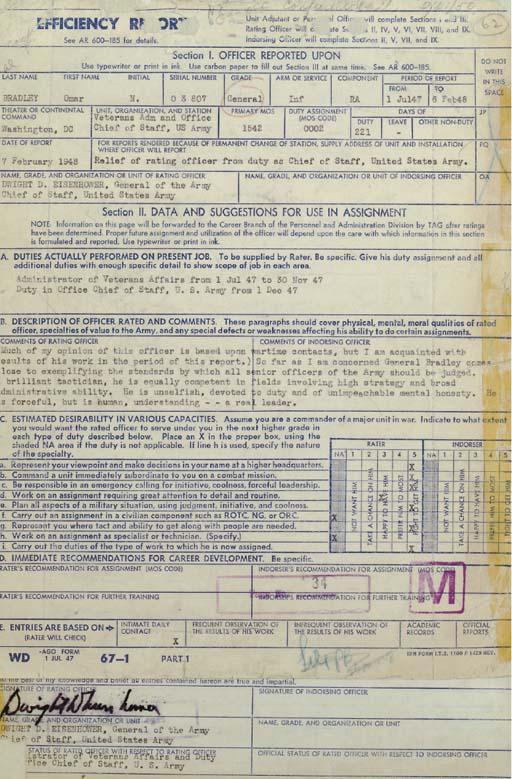 EISENHOWER, Dwight D. Document