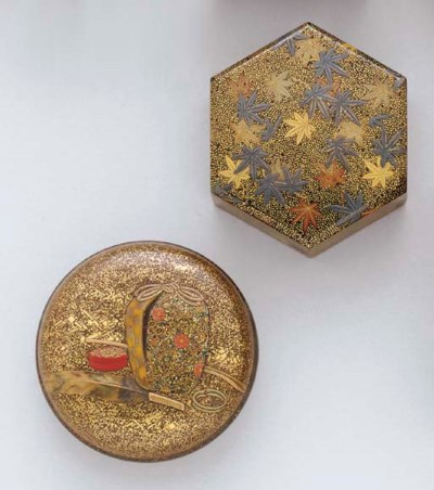 Two Lacquer Incense Containers