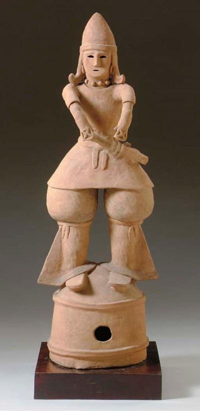A Large Haniwa Male Figure