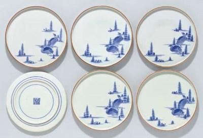 Six Porcelain Dishes
