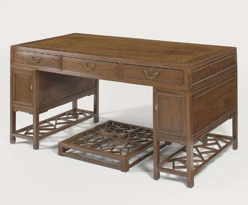 A HUANGHUALI SIX-DRAWER PARTNE