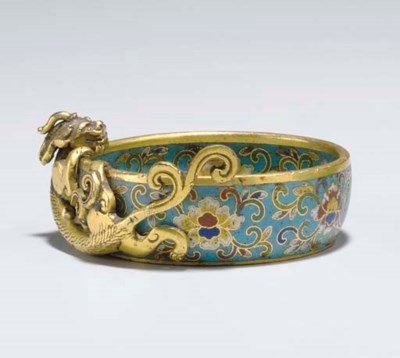 AN UNUSUAL SMALL CLOISONNE ENA