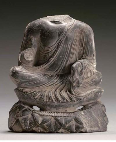 A black stone torso