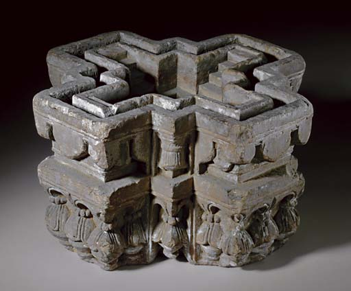 An unusual stone model of a st