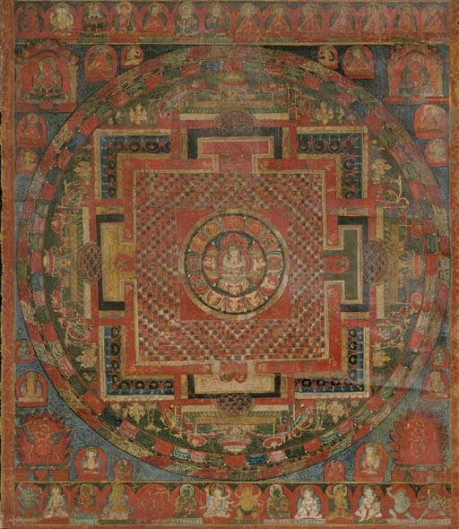 Thangka of the Chaturbhuja Ava