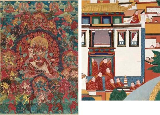 A Thangka of Buddha Heruka and
