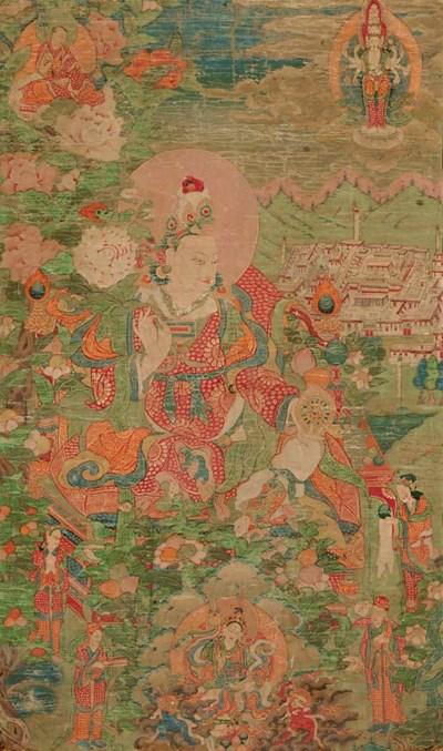 Thangka of Dharmaraja Songtsan