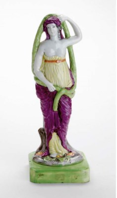 A STAFFORDSHIRE FIGURE OF OPHE