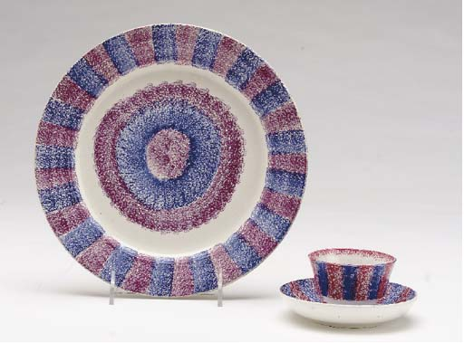 A GROUP OF SPATTERWARE DISHES,