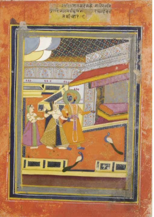 A PAIR OF PAINTNGS OF KRISHNA