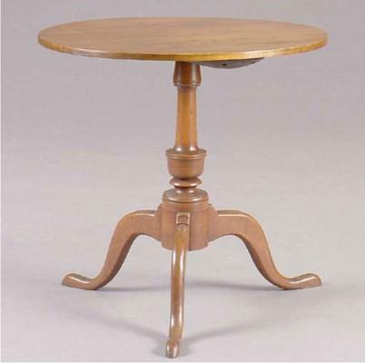 A FEDERAL MAHOGANY TEA TABLE,