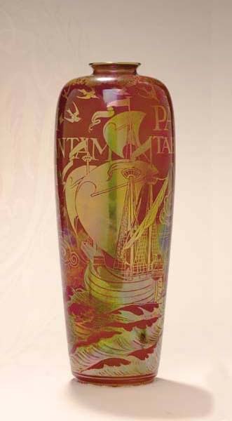 A PILKINGTON'S ROYAL LANCASTRIAN POTTERY VASE